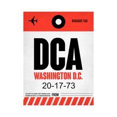 DCA Washington, DC Etiqueta del equipaje