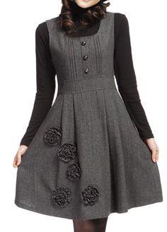 Fashion Winter Wool Dress or Skirt Stylish Dresses, Simple Dresses, Nice Dresses, Casual Dresses, Stylish Outfits, Woolen Dresses, Wool Dress, Women's Jumper Dress, Dress Outfits