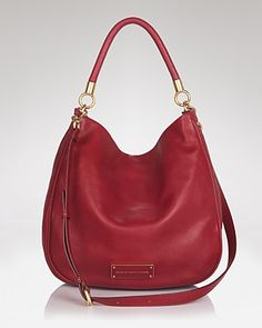 Marc Jacobs Red Calf Leather Workwear Handbag HkwNC