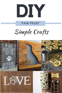 """Simple Crafts for Paw Print Art.. Steps I used to make Paw Print Wooden Art... """"LOVE""""ing it :)"""