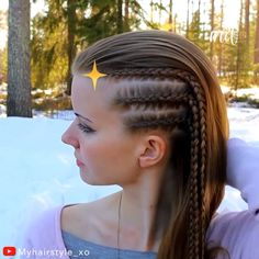 Learn how to do side cornrows on your own hair. By: Learn how to do side cornrows on your own hair. How To Do Cornrows, Side Cornrows, How To Braid Cornrows, Cornrows Braids White, Braided Buns, Messy Buns, Tight Braids, Two Braids, Side Braids