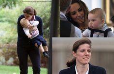 #RoyalBabyNews - Prince George was at Kensington Palace with his nanny Maria Tereasa Borrallo.