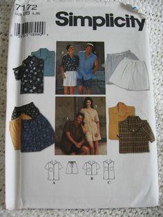 Simplicity Misses Womens Mens Teens Shirts and Shorts by Vntgfindz