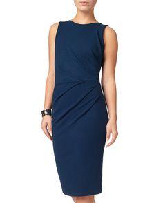 Phase Eight Fiona Crepe Dress Blue