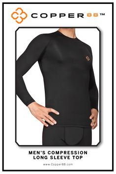 The only product to have 88% copper embedded in it's fabric. This Long Sleeve Compression Shirt supports your muscles and joints, aiding in faster recovery time and helping to improve blood circulation. Comfortably worn during exercise, rest and in the shower. Super-fast wicking keeps garments dry. Antibacterial and anti-odour properties will keep you feeling and smelling fresh. Copper88™ fabric attributes are inherent in all our garments and will last for as long as you own our products.