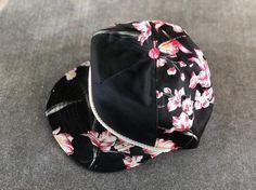 35610a598f37c Vintage Deadstock Blank Hawaiian Five Panel Snapback Hat, Rope Hat, Rope  Brim Hat,