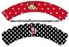 Minnie Red Complete Kit - With frames for invitations, labels for goodies, souvenirs and pictures! | Making Our Party