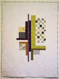New Patchwork Trends This geometric quilt has an abstract vibe in it and I love it! Patchwork Quilting, Scrappy Quilts, Mini Quilts, Baby Quilts, Modern Quilting Designs, Modern Quilt Patterns, Geometric Quilt, Contemporary Quilts, Small Quilts