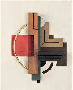 Félix Lucien Aimé DEL MARLE (1889-1952) - Relief, ca. 1947                                                    Bois et métal sur panneau