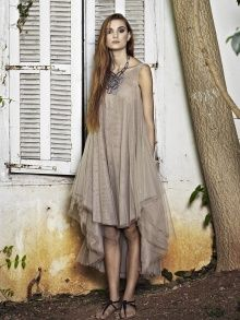 Why not wear tulle??  Beige Tulle Dress | NOT JUST A LABEL