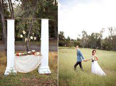 Greek Column Ceremony Backdrop - Grecian Styled Shoot