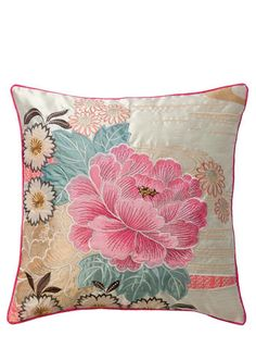 ACCESSORIZE Oriental Flower Cushion - patterned - cushions - Home, Lighting & Furniture