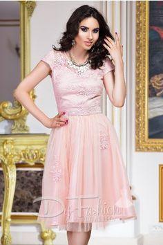 Rochie de Cununie Civila Foarte Eleganta Roz Pink Prestige