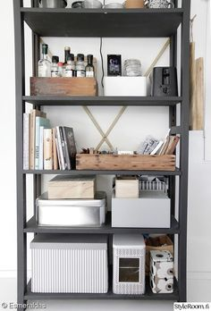säilytys,lundia,organisointi,järjestely Storage Shelves, Shelving, Shelf, Furniture Inspiration, Interior Inspiration, Contemporary Decor, Modern Decor, Transitional Decor, Lund
