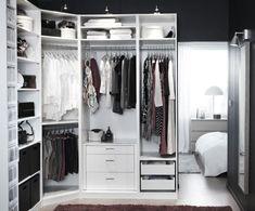 Система хранения в спальне: 5 идей для комнат разной площади — INMYROOM Ikea Closet Shelves, Ikea Closet System, Ikea Bedroom Storage, Closet Storage Systems, Ikea Closet Organizer, Best Closet Organization, Wardrobe Systems, Organization Ideas, Shoe Shelves