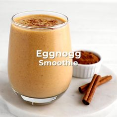 We're blending all of the traditional eggnog flavors with our SmoothieBox Clementine Super Smoothie pouch of frozen fruits and vegetables for a delicious, healthy, and festive meal fit for the holidays! Breakfast Drinks Healthy, Healthy Cocktails, Healthy Smoothies, Clementine Smoothie Recipes, Cashew Milk, Refreshing Drinks, Junk Food, Juices, Food Videos