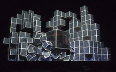 The set for tonight's Amon Tobin's ISAM gig. RIDICULOUS projection mapping. #Roctober marches on! #fb, via Flickr.