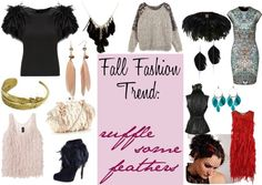 """""""Fall Fashion Trend: Feathers"""" by ltretail on Polyvore"""