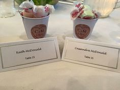 Simple Favors...Buckets - Dollar Tree, Monogrammed Stickers - Oriental Trading, Salt Water Taffy - Dolly's Rehoboth Beach