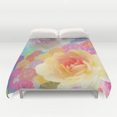 Artistic roses, patterns and textures Duvet Cover