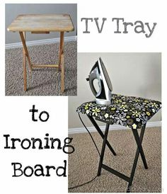 Turn that Tv tray into an Ironing board!!