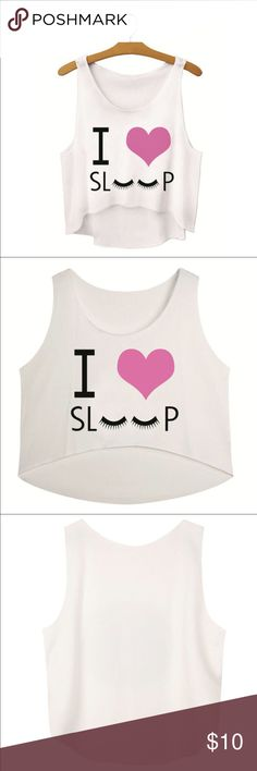 😴 sleep tank 😴 I love sleep tank, great as a Jammie top or wearing out for the day, baggy and comfortable, hangs above the belly button Materials: spandex and cotton         ♥️offers welcome        ♥️fast shipping         💔no trades  Item #008 Tops Tank Tops