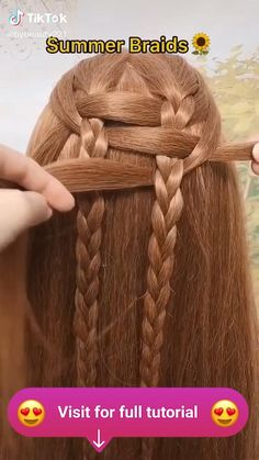 Hair Up Styles, Medium Hair Styles, Hair Braiding Styles, Braiding Your Own Hair, Summer Hairstyles, Up Hairstyles, Halloween Hairstyles, Hairstyle Short, Natural Hairstyles