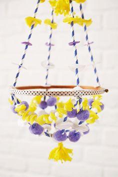 Make a pajaki chandelier  Mollie Makes 57