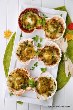 Apron and Sneakers - Cooking & Traveling in Italy and Beyond: Baked Scallops With Cheese
