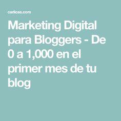 Marketing Digital para Bloggers - De 0 a 1,000 en el primer mes de tu blog