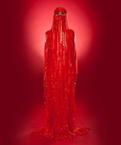 Burka made of red Fruit Roll-Ups