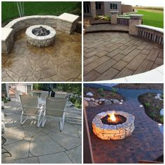 24 Amazing Stamped Concrete Patio Design Ideas Remodeling Expense pertaining to 12 Smart Ways How to Upgrade Backyard Cement Patio Ideas Painted Cement Patio, Diy Concrete Patio, Concrete Patio Designs, Stamped Concrete, Concrete Stone, Paint Concrete, Decorative Concrete, Patio Images, Patio Pictures