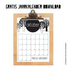 Download gratis deze oktober maandkalender. De mooi vormgegeven &tijdloze kalender is exclusief voor MoodKids gemaakt door OktoberDots.