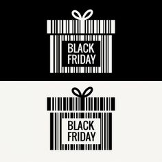 Caja de regalo de viernes negro hecho con código de barras