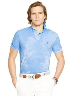 6aa446b37a6 Tropical Mesh Polo Shirt - Polo Ralph Lauren Custom-Fit - RalphLauren.com