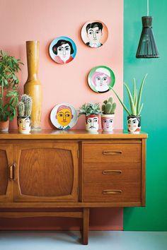 Gezellige kleuren op de muur