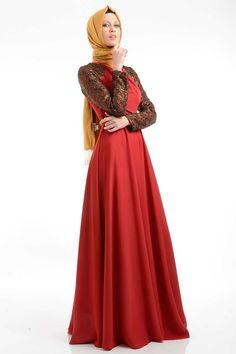 Tuay - Simli Dantel Detaylı Elbise