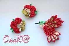 Моя работа Ribbon Art, Diy Ribbon, Fabric Ribbon, Ribbon Crafts, Flower Crafts, Fabric Flowers, Handmade Flowers, Handmade Crafts, Ribbon Projects