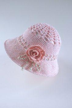Crochet Baby Girls Sun Hat Toddler Summer Hat Cotton by milazshop