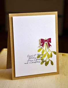 Christmas Kiss Card by Maile Belles for Papertrey Ink (October 2014)