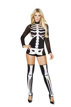 Skeleton Print Costume I Sexy Costume I Rave Wear |