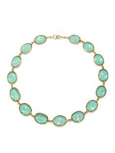 Aqua Green Quartz Strand Necklace