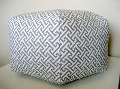 18 Ottoman Pouf Floor Pillow Waverly Cross Section by aletafae, $75.00