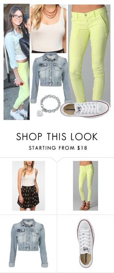 """""""Kendall Jenner"""" by sofi-at ❤ liked on Polyvore featuring BCBGMAXAZRIA, Coincidence & Chance, TEXTILE Elizabeth and James, Tiffany & Co., Converse, kendalljenner and exacts"""