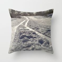 """Throw Pillow / Indoor Cover (16"""" X 16"""") • 'Skispor' • IN STOCK • $20.00 • Go to the store by clicking the item."""