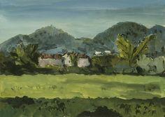 Dimitri Bouchéne (1893-1993) Near Abano, Italy (3) Gouache on paper