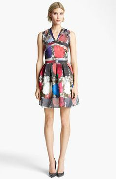 Christopher Kane Print Organza Dress | Nordstrom