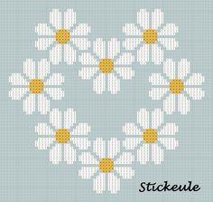 cross stitch pattern. for more go to http://stickeule.blogspot.co.uk/2012/04/nicht-ohne-grund.html