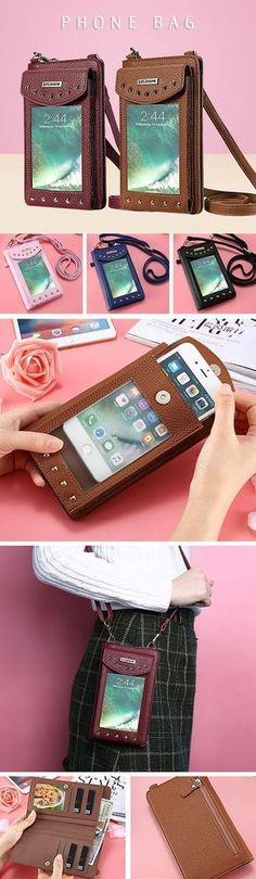 Phone Bag PU Leather Portable Wallet Card Holder Purse - https://www.luxury.guugles.com/phone-bag-pu-leather-portable-wallet-card-holder-purse/