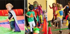 Super Hero Training Party - A hero's obstacle course